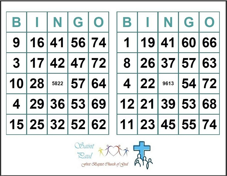 Printable Bingo Cards  Per Page  Printable Cards